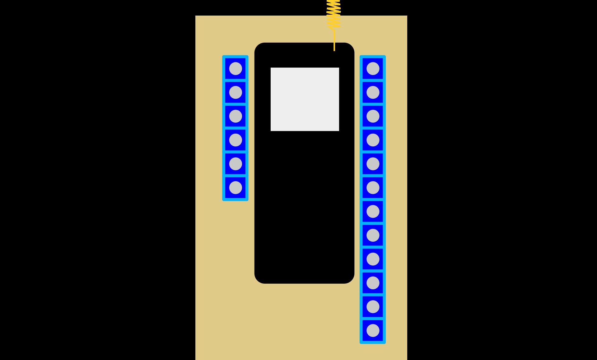 electronics inside box